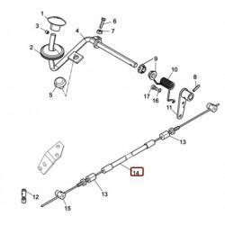 Bovden nožnega plina VPD 4600/6000